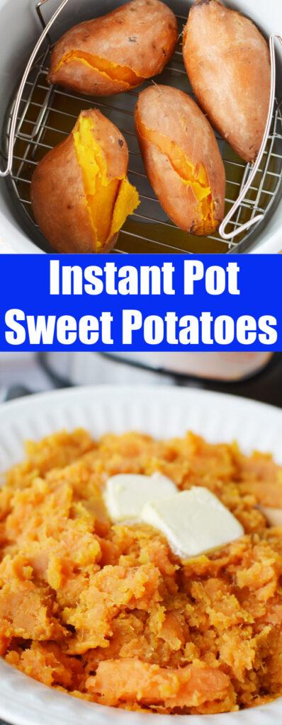 pinterest collage instant pot sweet potatoes