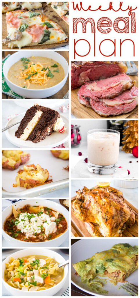 pinterest collage of weekly meal plan