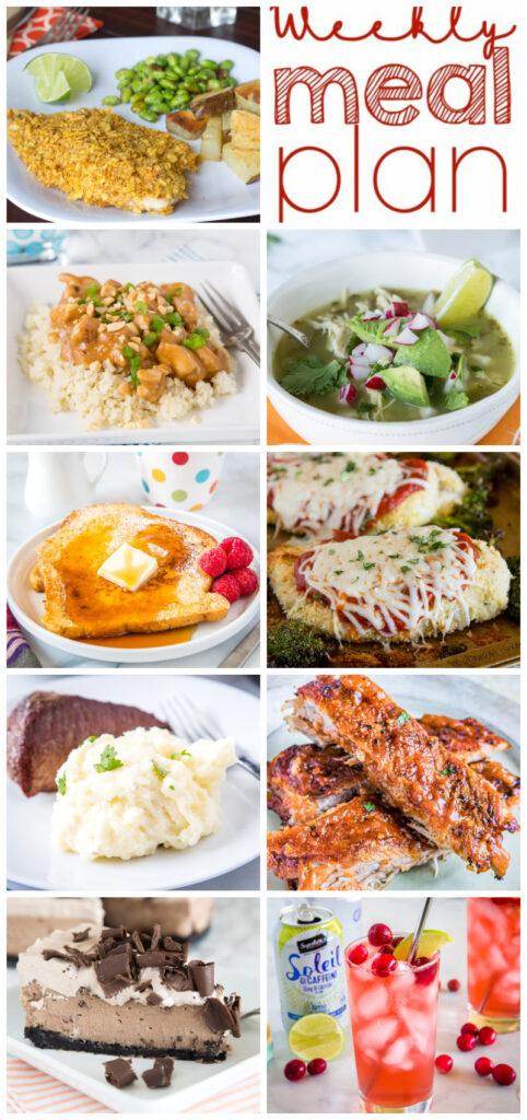 pinterest collage of dinner ideas