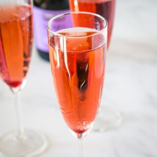 cropped image of pomegranate bellini