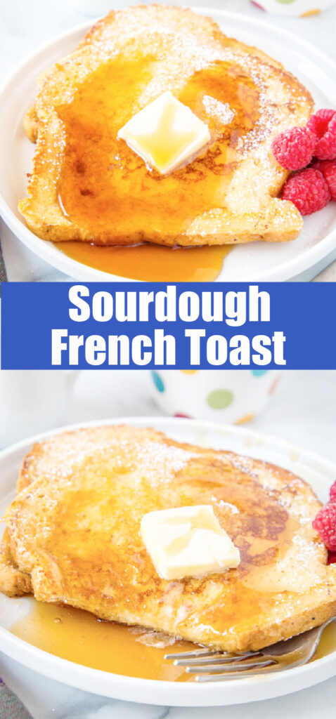 slices of french toast with syrup on a plate