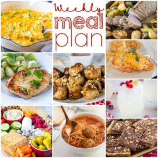 weekly meal plan ideas in collage