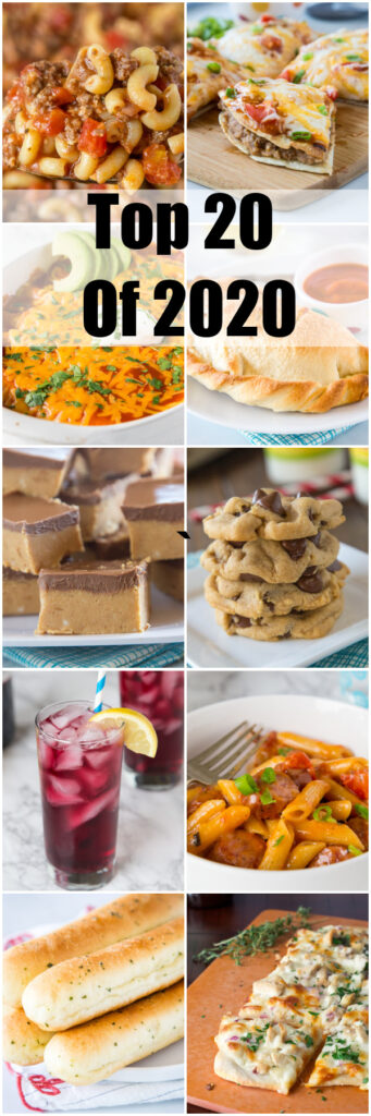 Top 20 recipes of 2020 in collage