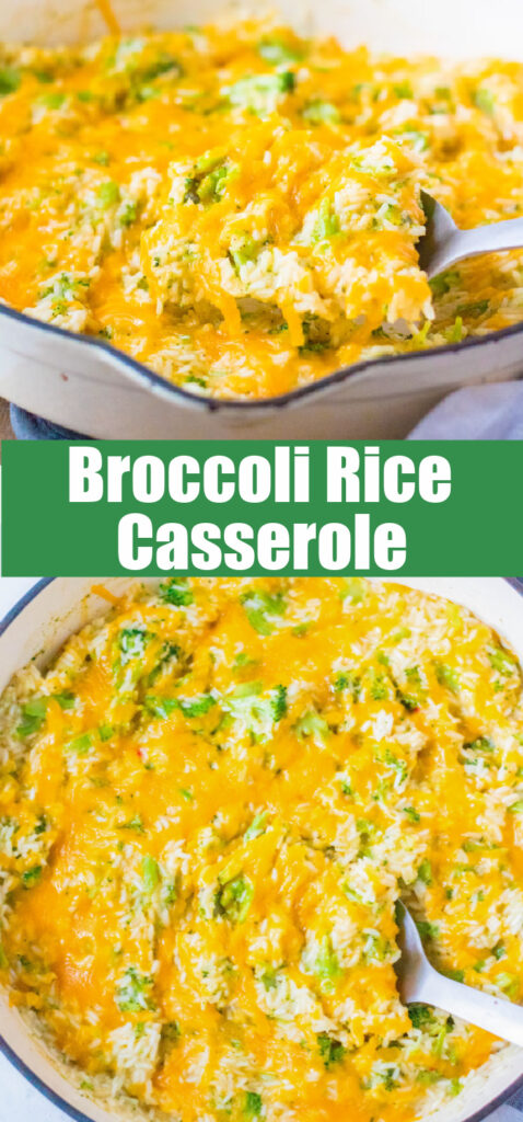 close up cheesy broccoli rice