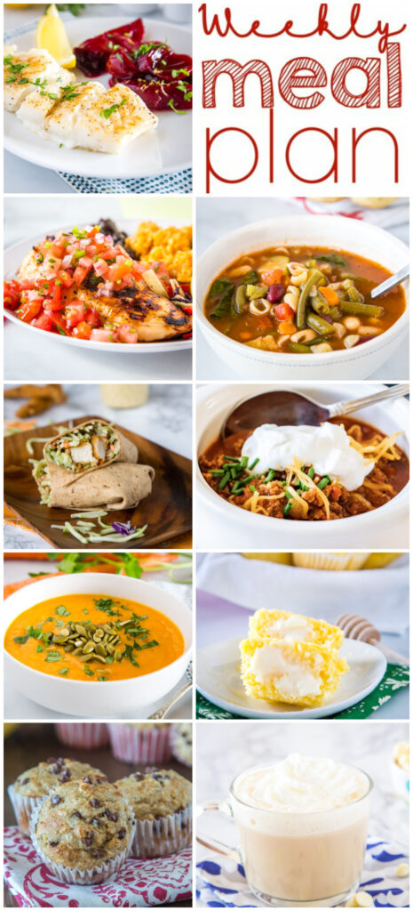 pinterest meal plan collage