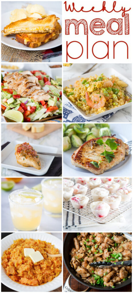 pinterest collage for meal plan