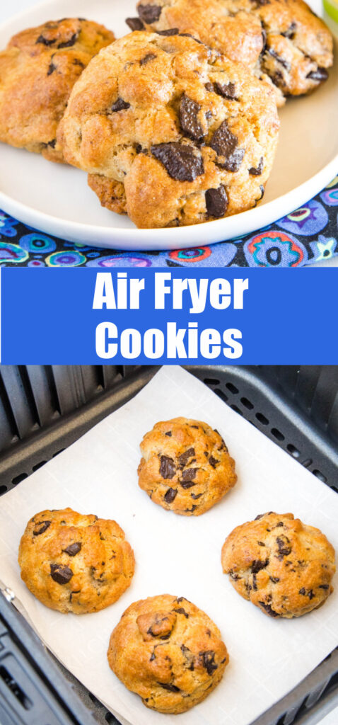 collage of air fryer cookies