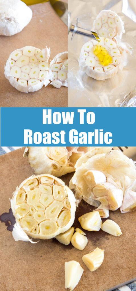 process of roasting garlic