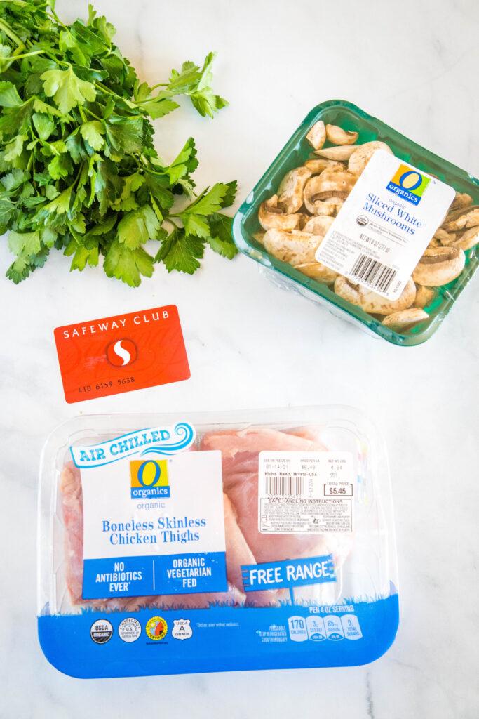 safeway ingredients to make instant pot chicken