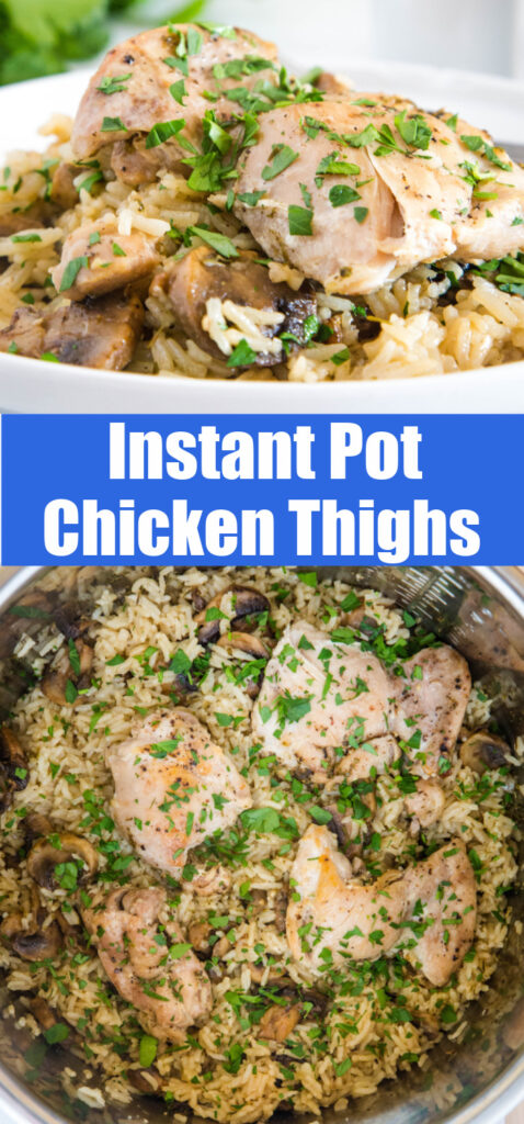 Pinterest collage for instant pot chicken thighs