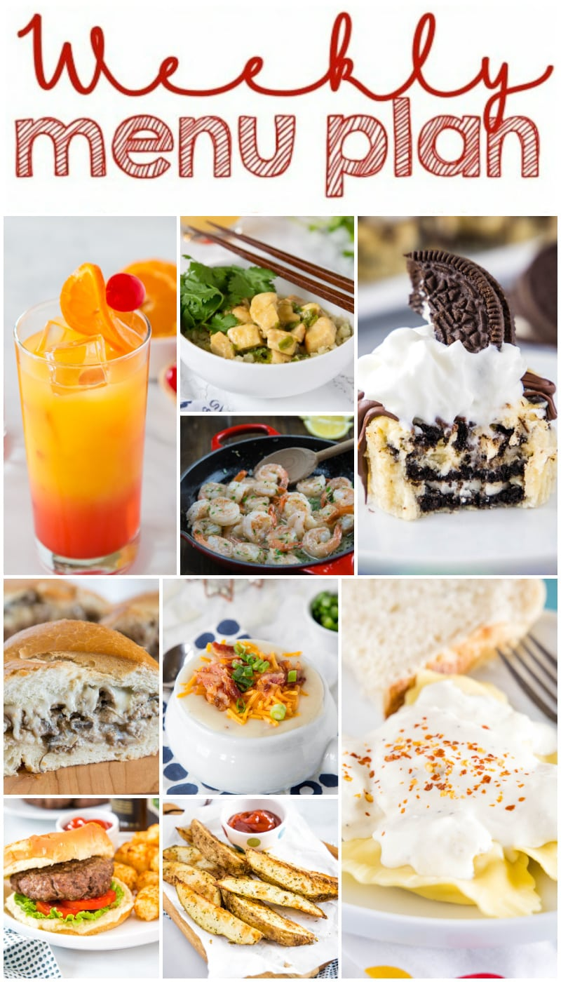 main weekly meal plan collage