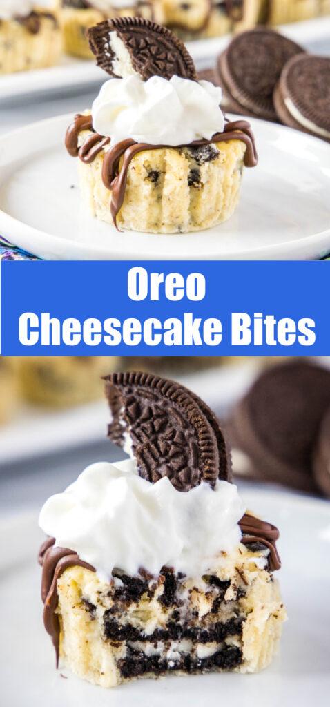 oreo cheesecake collage for pinterest