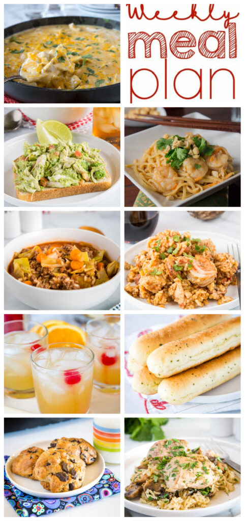 weekly meal plan pinterest collage
