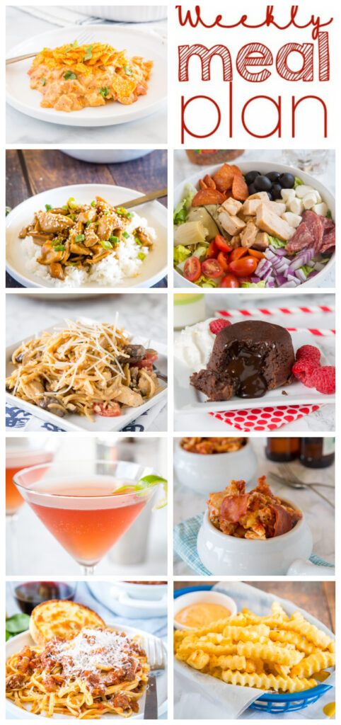 pinterest collage for weekly meal plan