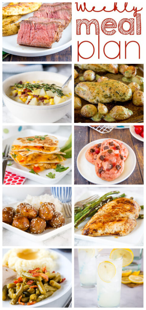 weekly meal plan college