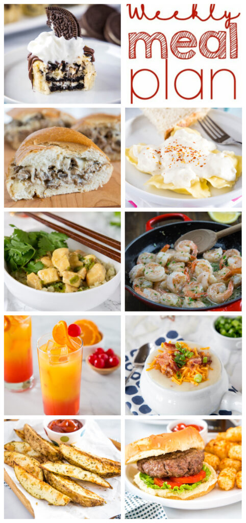 pinterst collage of weekly meal plan