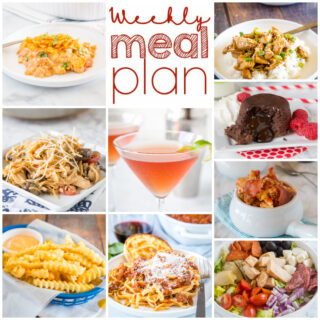 square collage for weekly meal plan