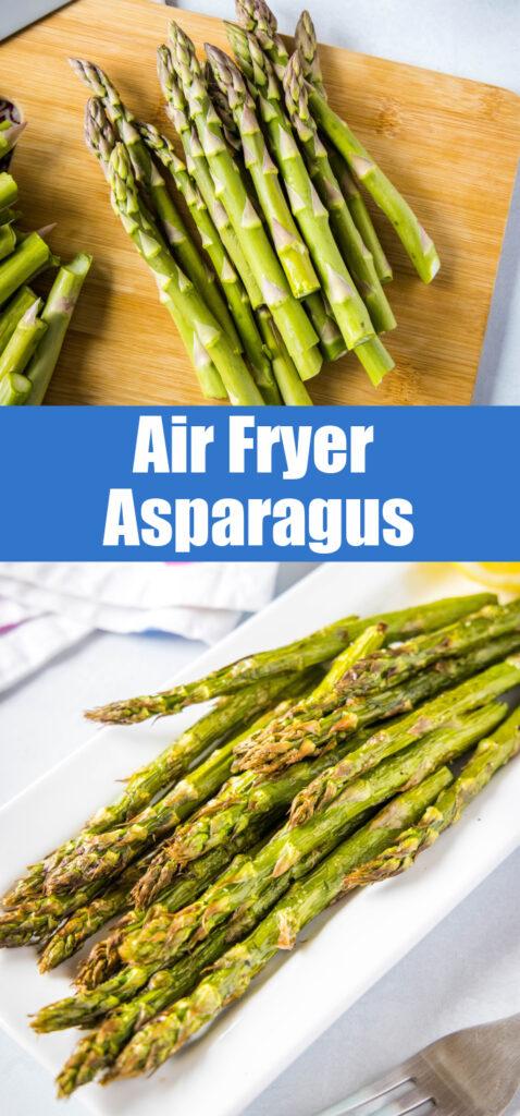 air fryer asparagus pin for pinterest