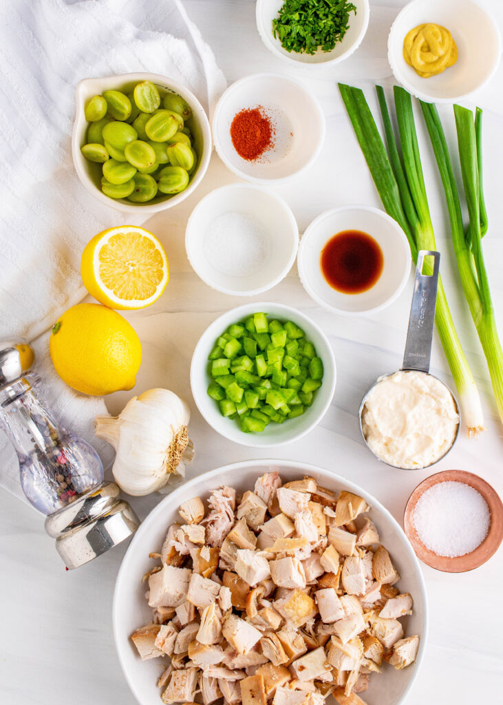 ingredients for chicken salad with grapes