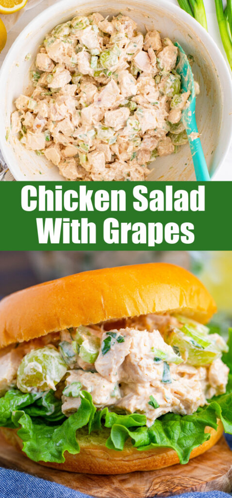 chicken salad with grapes for pinterest