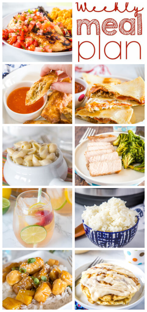 dinner ideas in pinterest collage