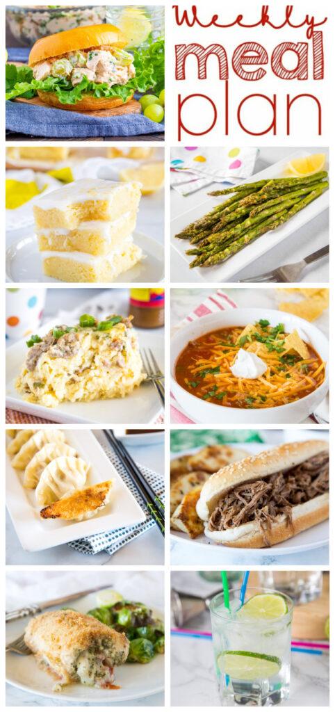 dinner menu collage