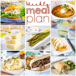 weekly dinner menu collage