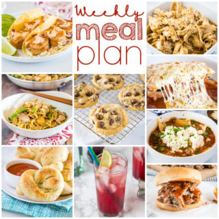 weekly meal plan ideas in a collage