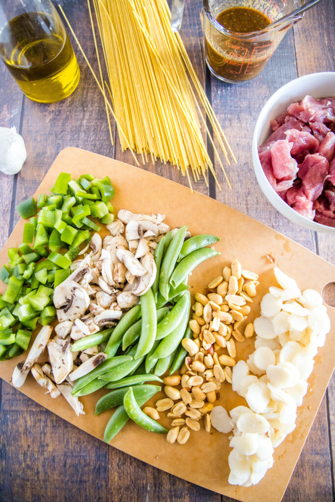 ingredients for asian noodles