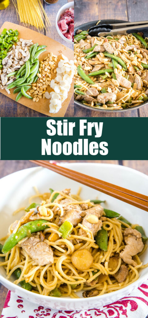 pinterest collage of asian noodles
