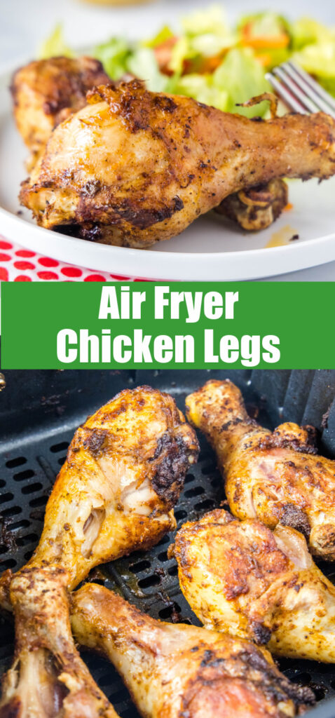 chicken legs close up for pinterest collage