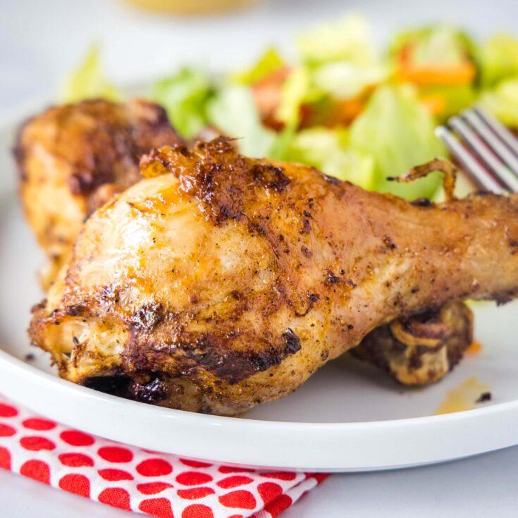 close up of chicken leg