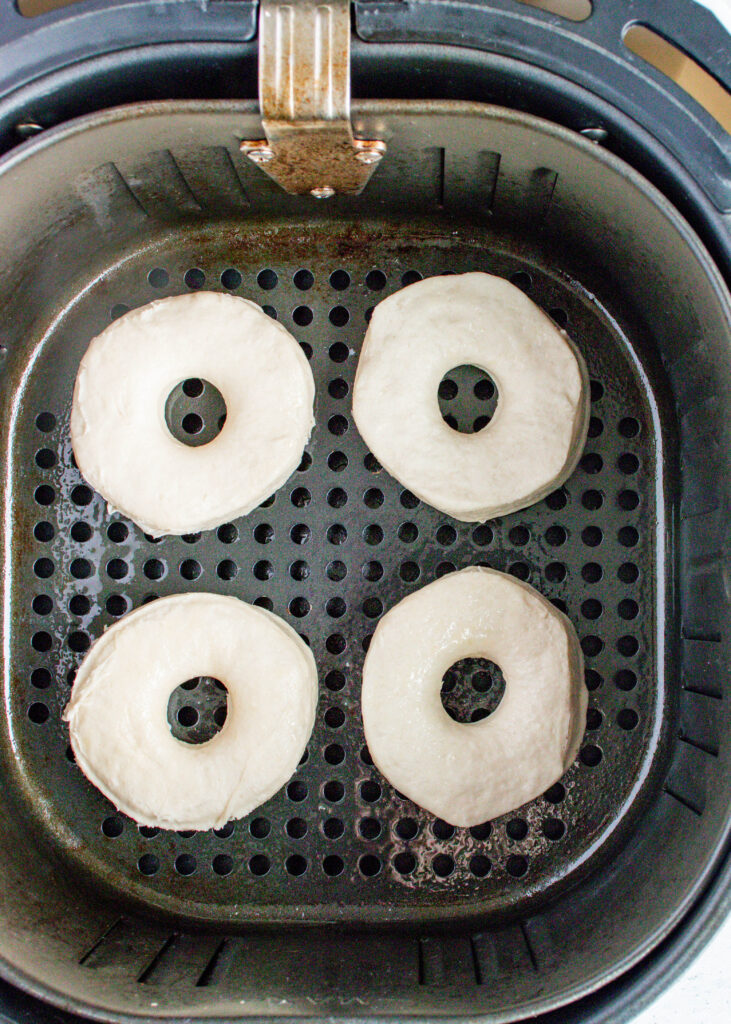 biscuit donuts in air fryer basket
