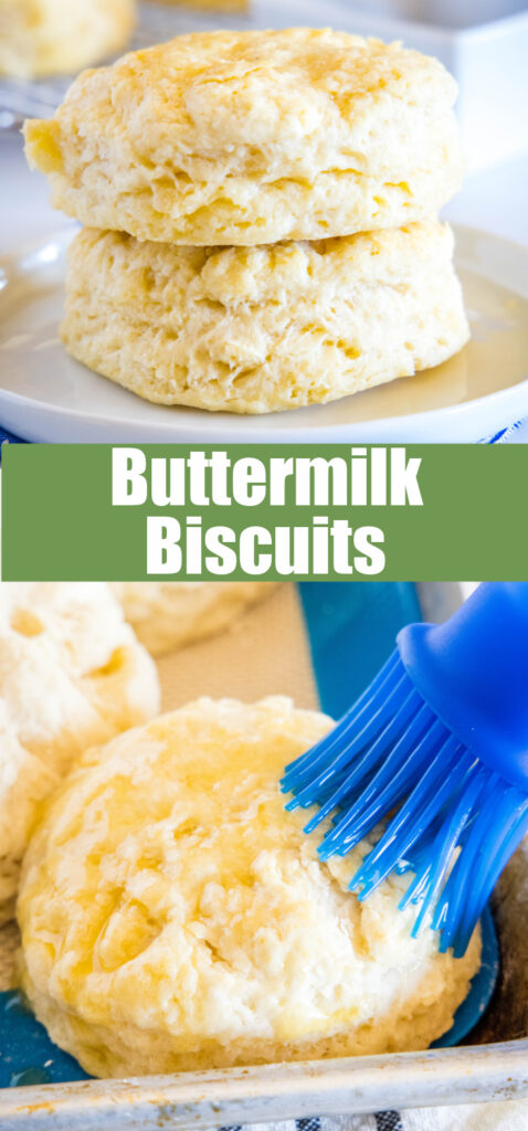 pinterest collage of buttermilk biscuits