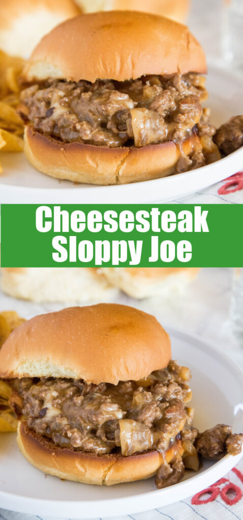 close up philly cheesesteak sloppy joes