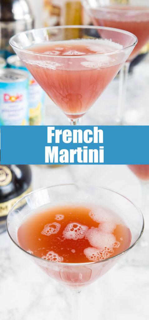 french martini in martini glass