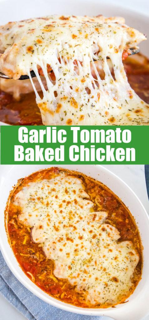 cheesy chicken in casserole dish