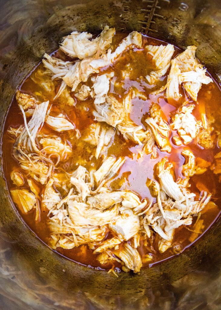 instant pot bbq chicken in pot