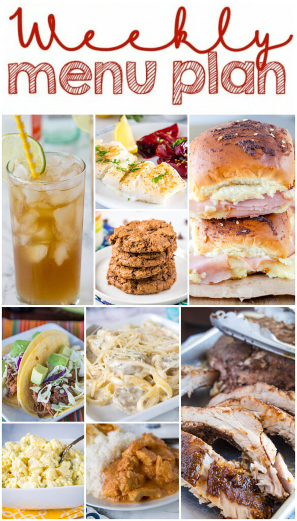 dinner meal plan collage
