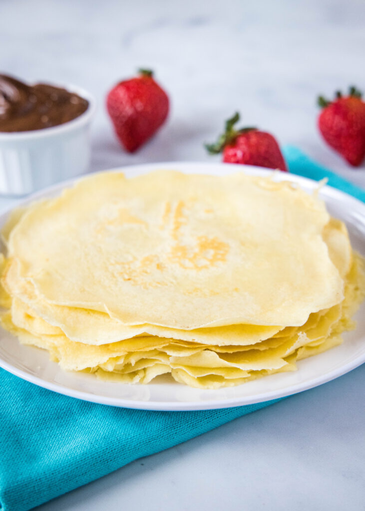 stack of cooked crepes