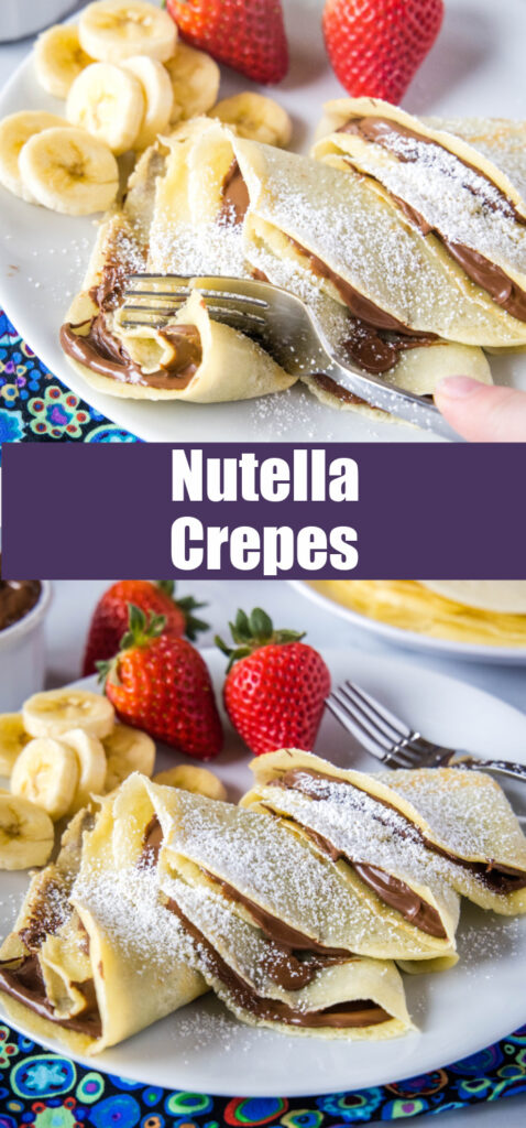 crepes filled with nutella