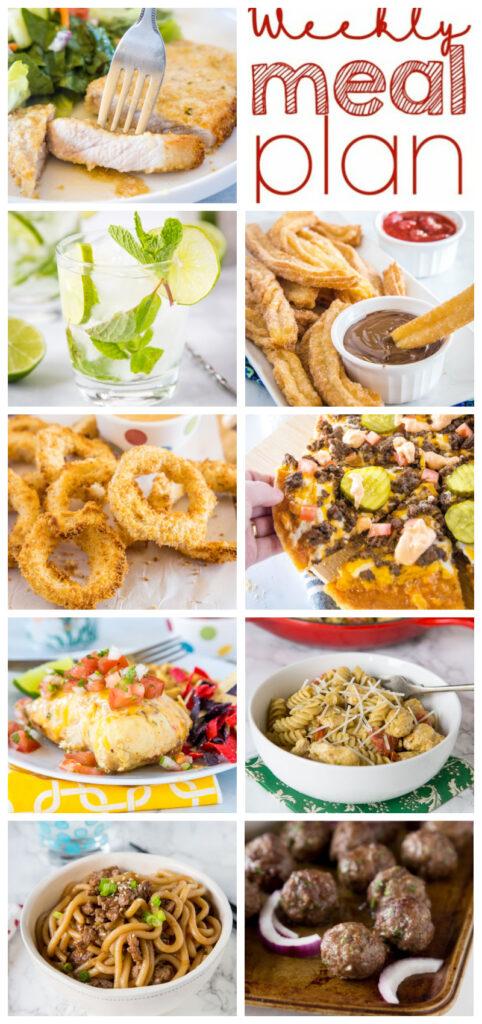 pinterest collage of dinner plans