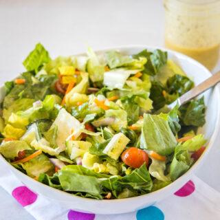 close up of side salad