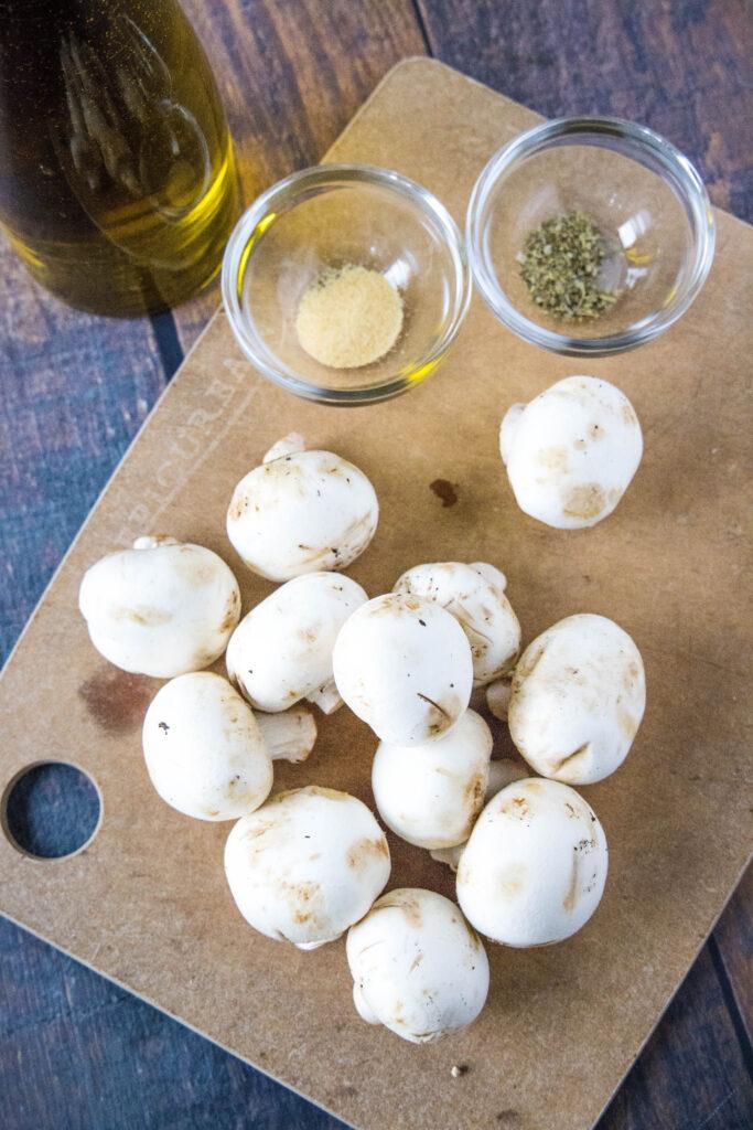 ingredients for air fryer mushrooms