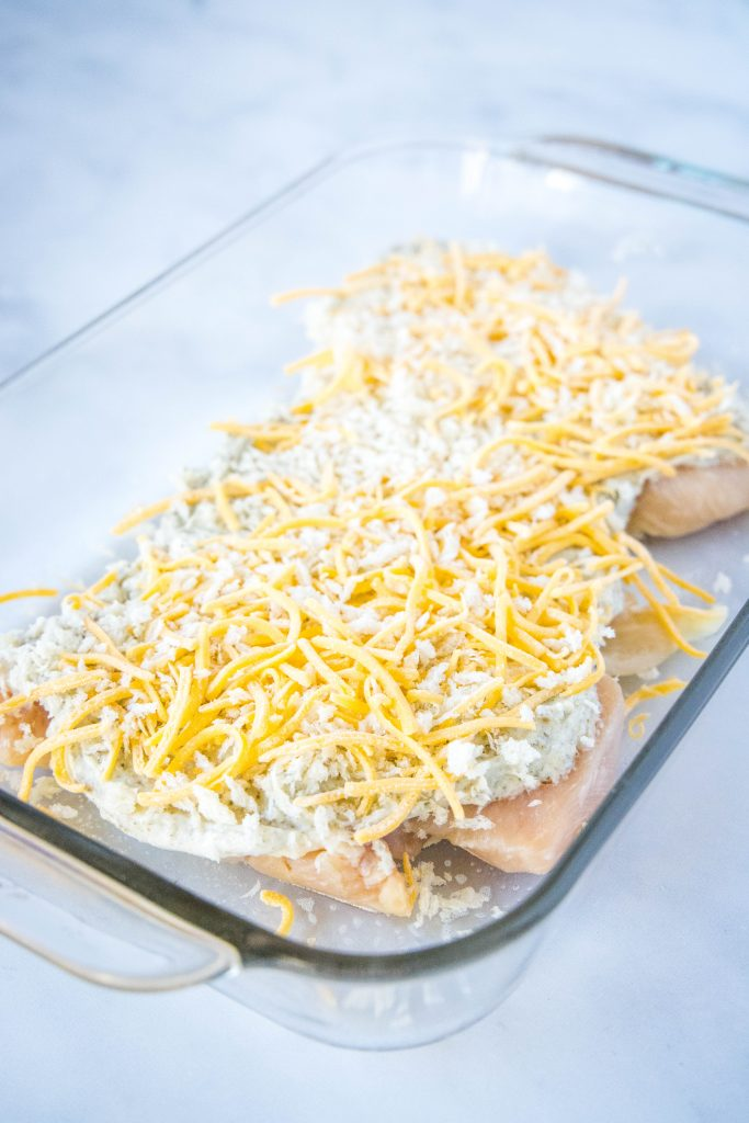 ranch chicken ready for the oven