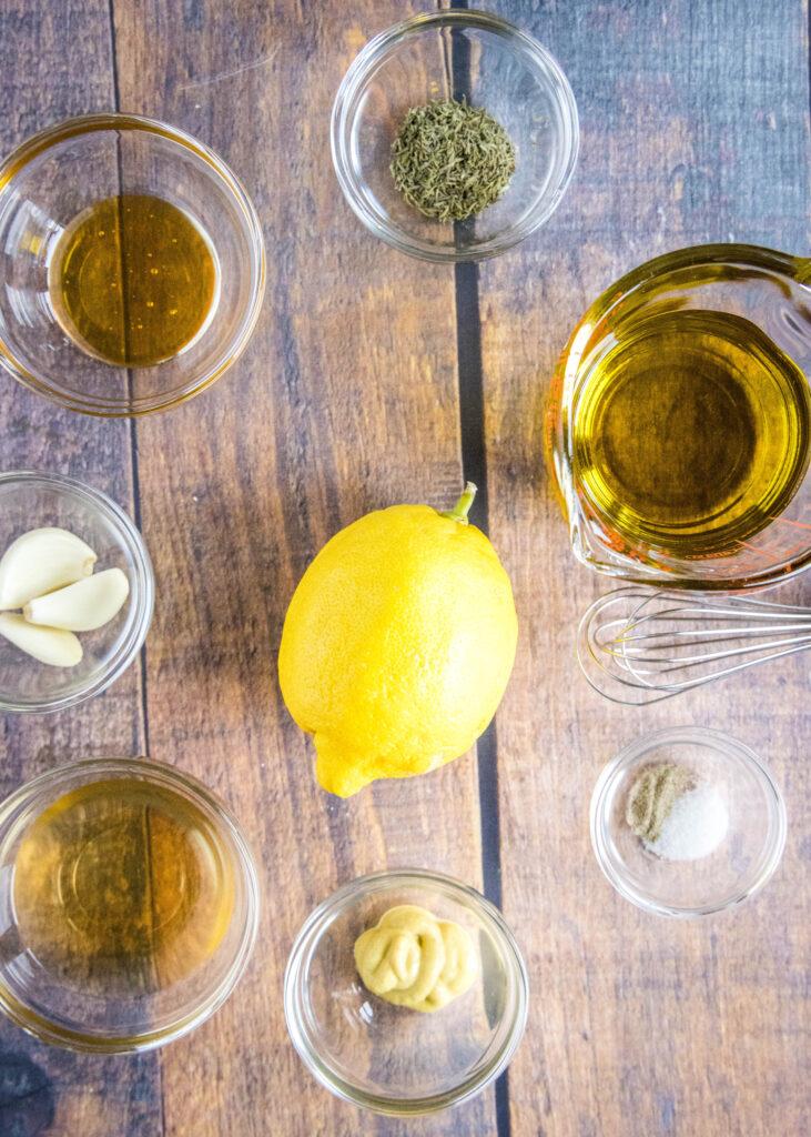 ingredients for lemon vinaigrette