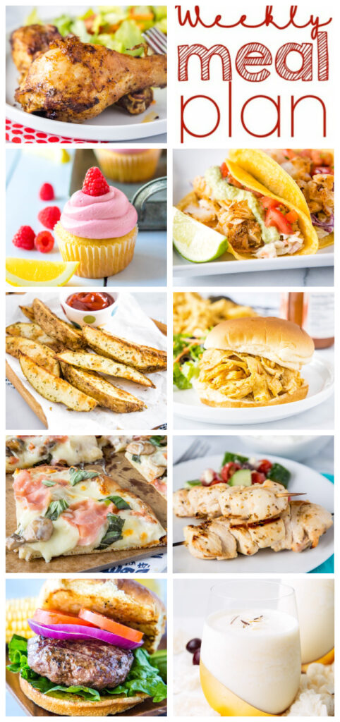 pinterest collage of the meal plan