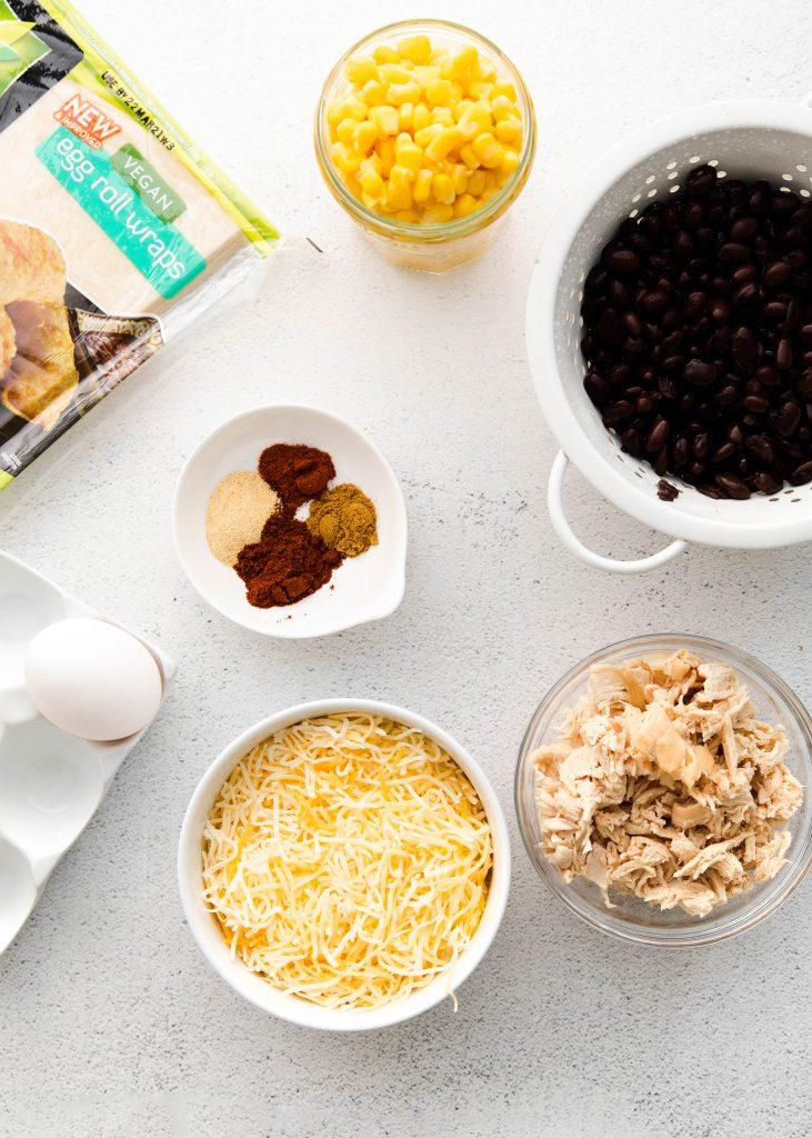 ingredients for southwest egg rolls