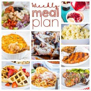 square collage of weekly meal plan