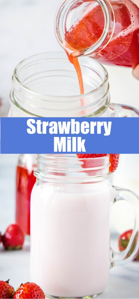 homemade strawberry milk pinterest pin